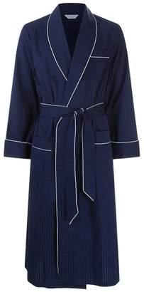 Derek Rose Pin Dot Piped Dressing Gown 40fa44b30