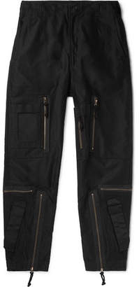 Cav Empt Black Yossarian Tapered Cotton-twill Cargo Trousers - Black