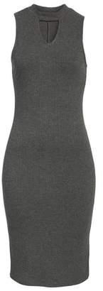Love, Fire Rib Knit Midi Dress