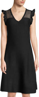 Rachel Roy Mixed Media Sweater Dress
