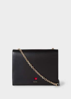 Paul Smith Women's Black 'Heart' Leather Shoulder Bag