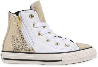 Converse Printed Leather High Top Sneakers