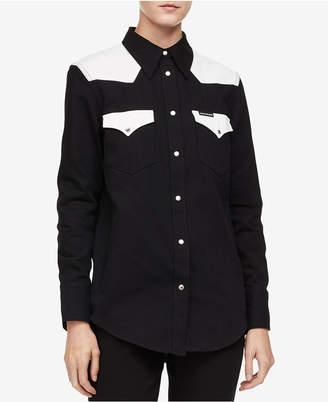 Calvin Klein Jeans Cotton Western Button-Up Shirt