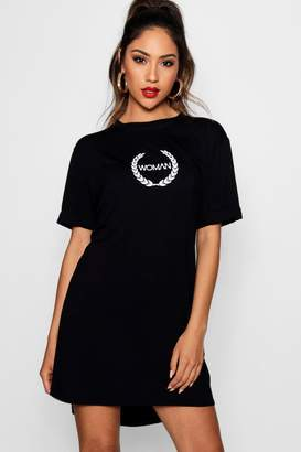 boohoo Woman Printed T-Shirt Dress