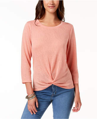 Style&Co. Style & Co Knot-Hem Top, Created for Macy's