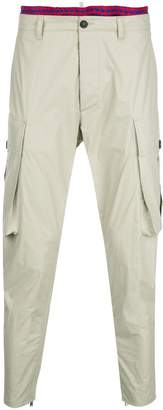 DSQUARED2 tapered cargo style trousers