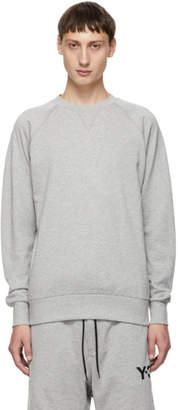 Y-3 Grey Back Logo Classic Crew Sweatshirt