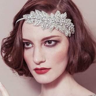Carlisle Debbie Lauren Diamante Leaf Wedding Headband