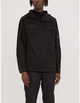 C.P. Company Button-up cotton-twill hooded sweatshirt
