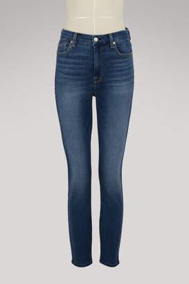 7 For All Mankind Super high-waisted cropped jeans