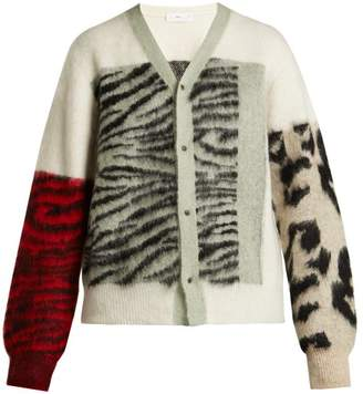 Toga Animal Print Cardigan - Womens - White Multi