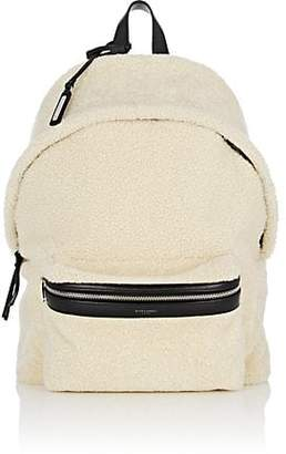 Saint Laurent Men's City Shearling Backpack - Beige, Tan