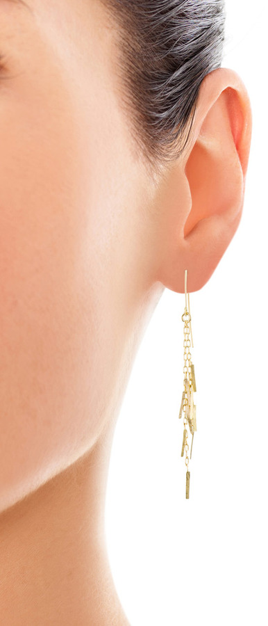 SIA Taylor Fringe yellow gold earrings