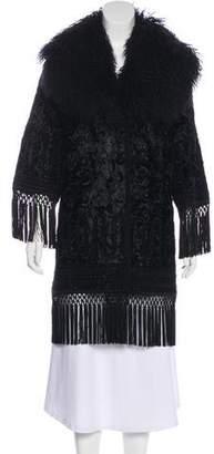 Andrew Gn Shearling Collar Knee-Length Coat