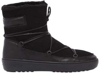 Moon Boot Pulse Low Suede & Shearling Boots