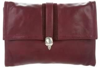 Chrome Hearts Leather Flap Clutch