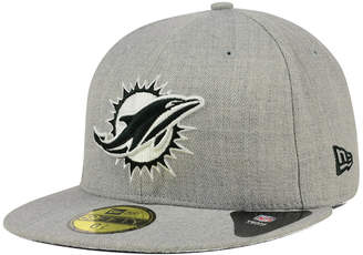 New Era Miami Dolphins Heather Black White 59FIFTY Fitted Cap