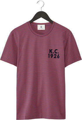 Kent & Curwen 1926 Burgundy Slim Fit Striped T-Shirt