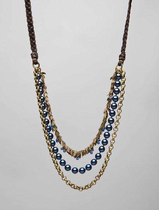 Victorian Hippie Multi Leaf Chain Necklace