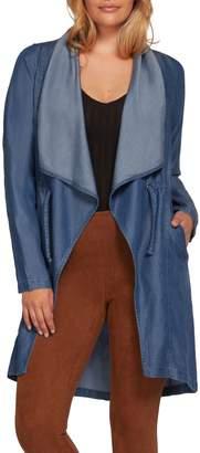 Dex Drape Collar Open-Front Jacket