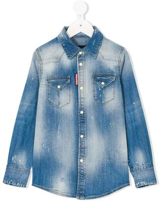 DSQUARED2 distressed effect denim shirt