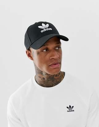 adidas Trefoil Cap in black