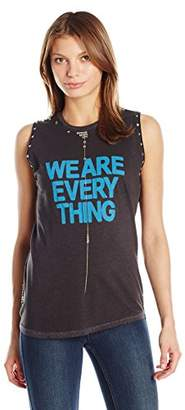 Freecity Women's We are Everything Studded Slvss T-Shirt