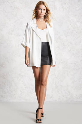 LOVE21 LOVE 21 Contemporary Crepe Blazer