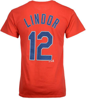 Majestic Men's Francisco Lindor Cleveland Indians Official Player T-Shirt