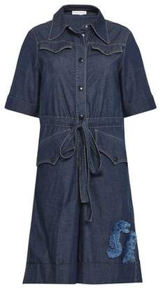 Sonia Rykiel Cotton-Blend Chambray Playsuit