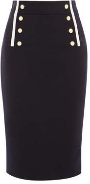 Karen Millen Button Detail Pencil Skirt