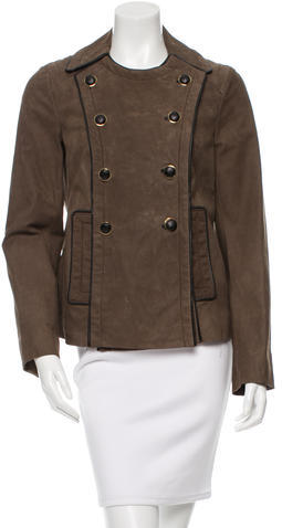 Tory Burch Tory Burch Double-Breasted Leather Jacket