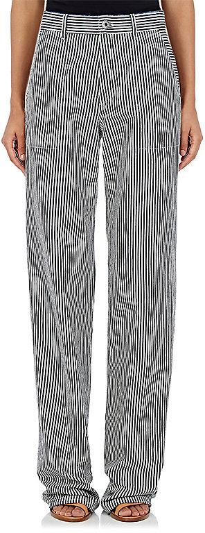 Chloé Chloé Women's Striped Denim Wide-Leg Trousers
