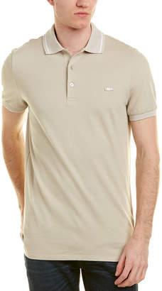 Burberry Check Placket Cotton Pique Polo Shirt