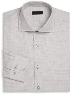 Saks Fifth Avenue COLLECTION Long Sleeve Basket Design Regular-Fit Dress Shirt