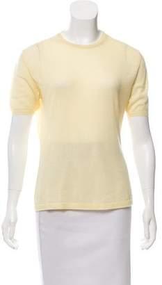 Hermes Cashmere Short Sleeve Sweater
