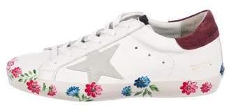 Golden Goose Superstar Floral Sneakers