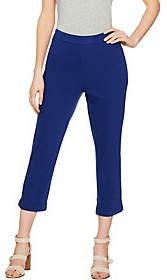 C. Wonder Regular Stretch Knit Twill Pull-OnCrop Pants