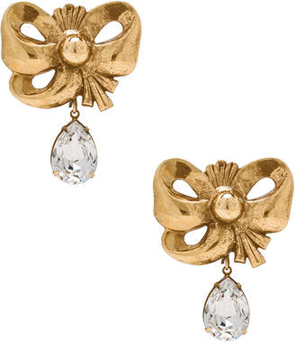Rodarte Bow Earrings with Teardrop Swarovski Detail