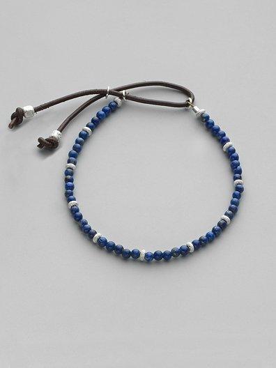 Catherine Michiels Lapis Lazuli & Sterling Silver Bracelet