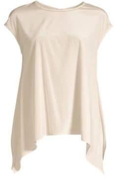 Peserico Silk Cap Shoulder Top