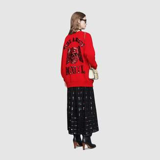 Gucci Oversize sweatshirt with sequin patches