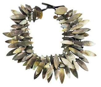 Viktoria Hayman Mother of Pearl Three Strand Collar Necklace