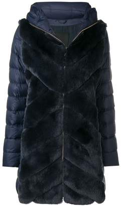 Liska rabbit fur padded coat