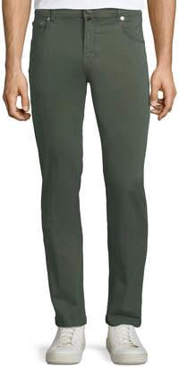 Kiton Men's Denim Five-Pocket Jeans, Green