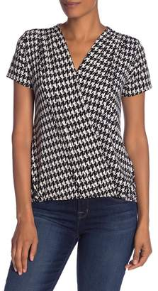 Tua Short Sleeve Print Blouse