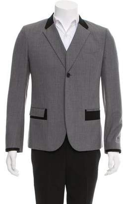 Balenciaga Wool One-Button Blazer