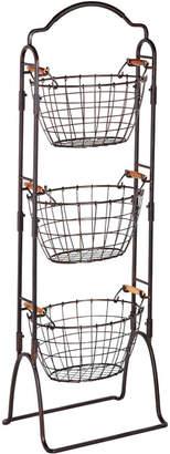 Gourmet Basics Harbor 3 Tier Wire Market Baskets