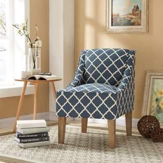 Better Homes & Gardens Lattice Upholstered Swoop Chair, Indigo