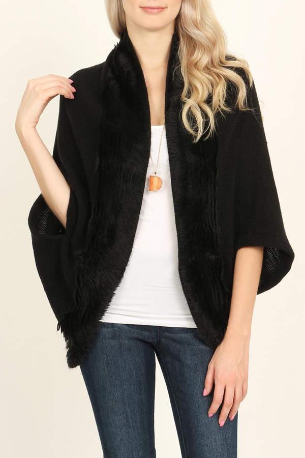 Riah Fashion Faux Fur Cardigan